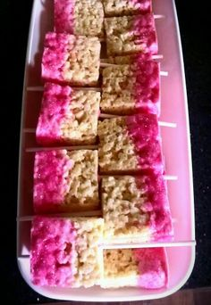 Rice Crispy Treats Pops Perfect for a Barbie party!!