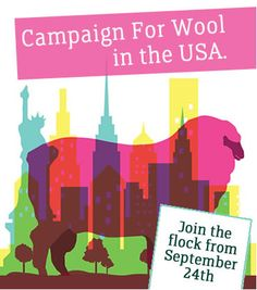 Join The Campaign, Live Naturally & Choose Wool Bryant Park, Yarn Bombing, Flocking, Graphic Art, Fiber, Campaign, Fabrics, Join, Usa