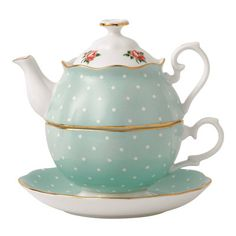 Royal Albert New Country Roses Polka Rose Tea for One Teapot | Wayfair