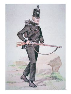 english-private-of-the-95th-rifles-c-1810-armed-with-the-baker-rifle-designed-by-ezekiel-baker-of-london.
