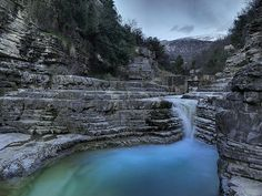 Amazing landscape in Zagorohoria, Epirus , Greece Greece Hotels, Winter Destinations, Paradise On Earth, Rock Pools, Greece Travel, Travel Around, Places To See, Travel Inspiration, Travel Ideas