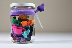 How to make elastic hair ties plus a cute storage idea.