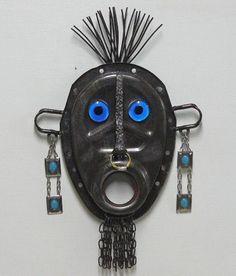 Found object welded garden art sculpture - Tribal. $255.00, via Etsy.