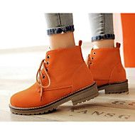 Women's Boots Combat Boots PU Winter Casual Combat Boots Green Beige Orange Black Under 1in – USD $ 35.98