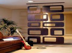 wooden hanging room divider ideas