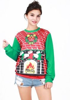 Christmas Print Sweatshirt