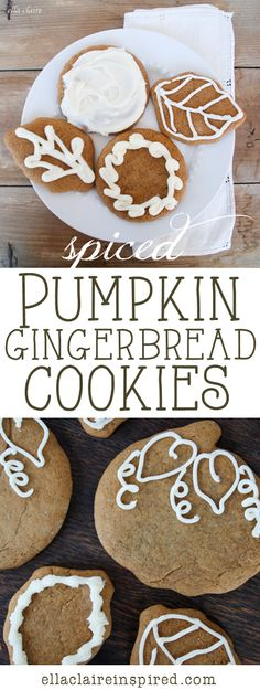 Spiced Pumpkin Gingerbread Cookies - The flavors of pumpkin and gingerbread go perfectly together in this Fall recipe!