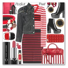 """""""REDLIP"""" by shoaleh-nia ❤ liked on Polyvore featuring beauty, Marc by Marc Jacobs and Marc Jacobs"""