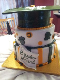 Baylor University cake by Chayo Sanders. Thank you Chayo for maing such an amazing cake for Morgan.  It was delicious!