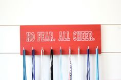 Cheerleader Medal & Bow Holder - Cheerleading - Cheer - Medium