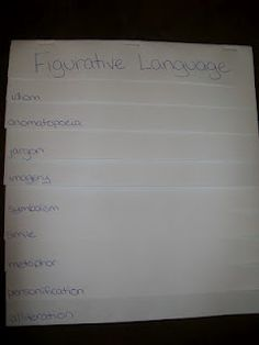 FREE figurative language foldable idea with examples