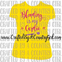 Blending is my Cardio, SVG, Cut file, Digital cut file, Younique, avon, mary kay, cosmetics, make up, makeup, cardio, vinyl cut file by CraftsByACountryGirl on Etsy
