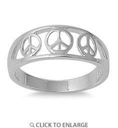 Rings, Bands,Filigree Peace Sign Symbol Fashion Ring New Sterling Silver Band Sizes Sterling Silver Rings, Silver Jewelry, Diamond Jewelry, Jewelry Rings, Antique Style Engagement Rings, Dreamland Jewelry, Discount Jewelry, Band Rings, Fashion Rings