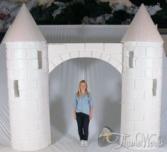 Castle entrance - Theme-Works. It's important to give off a good first impression at your event and a big entrance like this castle entrance is a brilliant way of doing that