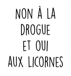 Debardeur Drogue licorne - wercy.fr Plus
