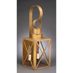 Northeast Lantern Suffolk 3 Light Lantern Head Finish: Antique Brass, Shade Type: Clear