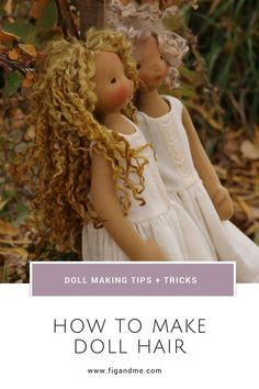Dollmaking tips, how to make doll hair.