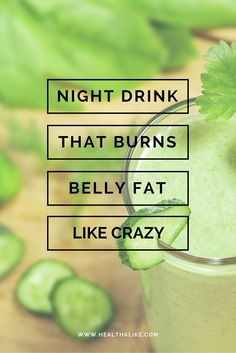 Night Drink That Burns Belly Fat Like Crazy!