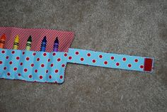 Nap Time Crafts: Large Crayon Roll