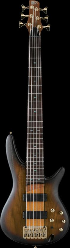 Ibanez SR756 6 String Electric Bass - Brown Sunburst Flat