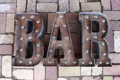 BAR Sign Light - Marquee light up letters YES they light up! Great for St. Patricks day    Your choice of any 3 Marquee light bulb letters = 1