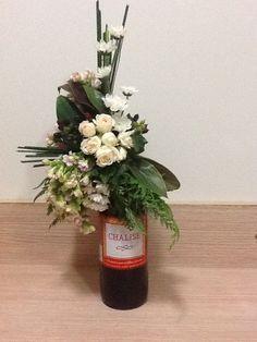 Um presente com uma embalagem de arranjo floral! Super original!