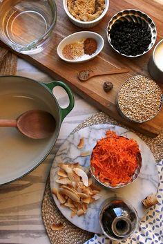 Morning Glory Steel Cut Oats by joy the baker, via Flickr (Oatmeal with carrots & raisins)