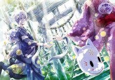 anime, hotarubi no mori e, and gin image