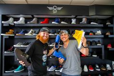 LA Dodgers, Justin Turner and Kike Hernandez, stop by the Creative Recreation showroom to see the newest product.