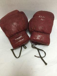 Vintage Rocky Graziano Autograph Model Crescent 109 Boxing Gloves  #Crescent