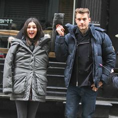Star Tracks: Monday, December 8, 2014 | HOW SWEET! | Despite the bulky jackets and silly smiles, Victoria Justice and Ryan Cooper get ready to film a romantic scene Friday for their new MTV series, Eye Candy, in N.Y.C