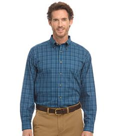 #LLBean: Wrinkle-Resistant Twill Sport Shirt, Traditional Fit Windowpane