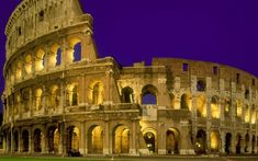 The Coliseum At Night Rome Italy Picture The Coliseum At Night Rome Italy Photo The Coliseum At Night Rome Italy Wallpaper