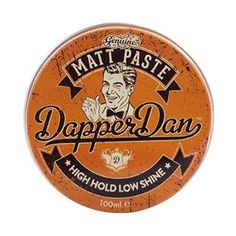 Dapper Dan Matt Paste Pomade High Hold Low Shine