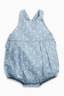 ブルー フローラル オーバーオール (0 か月~2 歳)