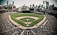 Detroit Tigers Stadium Baseball Wallpaper
