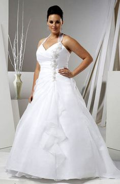 best place for shopping cheap plus size wedding dresses!cheap,quality,custom cheap plus size wedding dresses up to US size 74 Wedding Dress Organza, Cheap Wedding Dress, Wedding Party Dresses, Homemade Wedding Dresses, Trendy Dresses, Cheap Dresses, Prom Dresses, Marie Laporte, Plus Size Wedding Gowns
