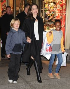 Angelina Jolie Takes Her Girls Shopping