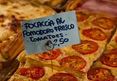 Italy -- Focaccia Pizza by David.Kamm, via Flickr -- Available in little food shops throughout Italy's Cinque Terre region. Makes a great quick meal when you don't want to spend a lot of time in a restaurant or cafe. #traveltip