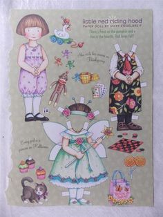 Mary Engelbreit Little Red Riding Hood Paper Doll