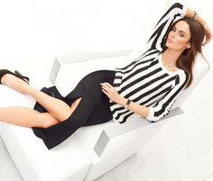 Langer Jersey-Rock mit Schlitz in der Farbe schwarz - im MADELEINE Mode Onlineshop