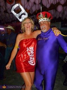 Crown and Coke Couple Halloween Costume