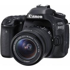 "Canon EOS 80D EF-S 18–55mm IS STM Kit (1263C005) HIGHLIGHTS: - 24.2MP APS-C CMOS Sensor - DIGIC 6 Image Processor - 3.0"" 1.04m-Dot Vari-Angle Touchscreen - Full HD 1080p Video Recording at 60 fps - 45"