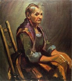 George Benjamin Luks (1867-1933) was an American realist artist and illustrator. Old Woman oil on canvas 61 x 76.2 cm
