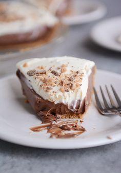 Chocolate Cream Pie with Graham Cracker Crust | Mel's Kitchen Cafe