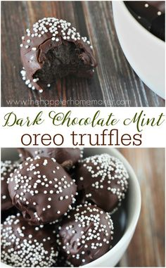 Dark chocolate joins mint and OREO cookies to create this indulgent yet oh so easy to make no bake dessert!