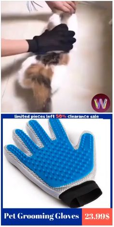 Our Gloves easily remove loose pet hair Allows you to groom hard-to-reach places like face, Rubber tips provide gentle relaxing massage. Removes dirt or fluff from your pet with no hassle. Felt Animals, Cute Animals, Baby Bottle Holders, Amazing Life Hacks, Amazing Ideas, Clothes Drying Racks, Loose Waves Hair, Polymer Clay Animals, Cool Inventions