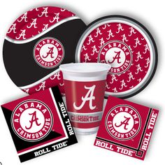 Alabama party supplies from www.DiscountPartySupplies.com