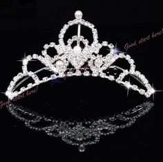 Crown Bridal Tiaras and Headbands Rhinestone Jewelry, Bridal Jewelry, Hair Comb, Tiara Hair, Crown Headband, Bridal Tiara, Tiaras And Crowns, Bridal Accessories, Headbands