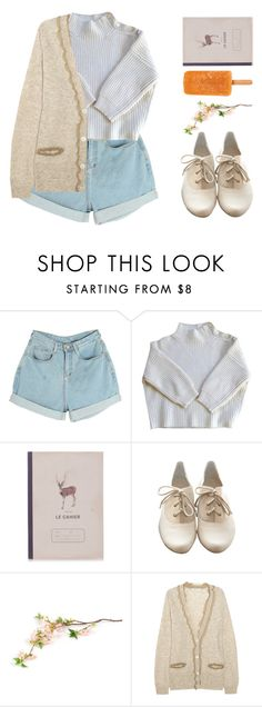 """""""Living the day"""" by nymphetdream ❤ liked on Polyvore featuring Vanessa Bruno, Katy & June, Slow and Steady Wins the Race, See by Chloé, set, shorts, nature and cardigan"""